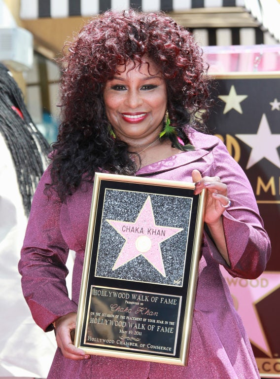 with her Hollywood Walk of Fame Star