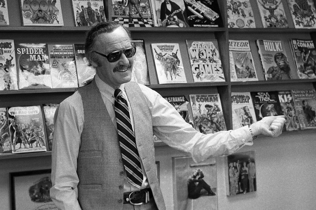 Stan Lee with Marvel Collection