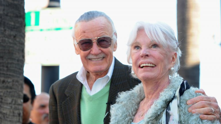 Stan Lee and his wife