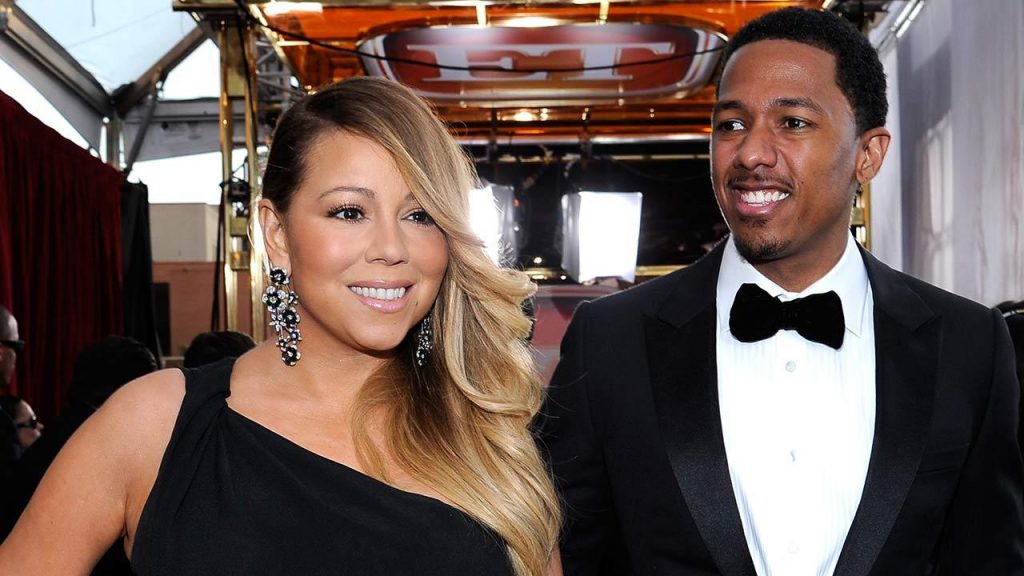 Nick Cannon with his ex-wife Mariah Carey
