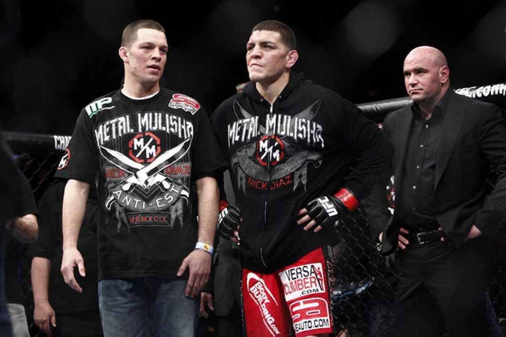 Diaz brothers in a fighting ring