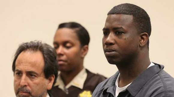 Gucci Mane in a courtroom